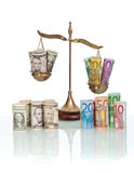 Currency exchange rates concept Stock Image