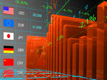 The currency exchange rates. Royalty Free Stock Images
