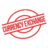 Currency Exchange rubber stamp Stock Photo