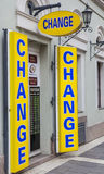 Currency Exchange Shop Royalty Free Stock Photos