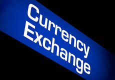 Currency exchange Sign Royalty Free Stock Photography