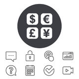 Currency exchange sign icon. Currency converter. Royalty Free Stock Image