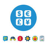 Currency exchange sign icon. Currency converter. Stock Photo
