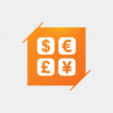 Currency exchange sign icon. Currency converter. Royalty Free Stock Photos