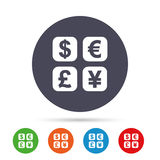 Currency exchange sign icon. Currency converter. Stock Photos