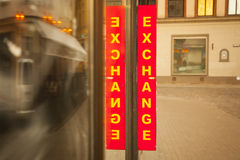 Currency exchange. Royalty Free Stock Image