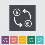 Currency exchange single flat icon. Stock Images