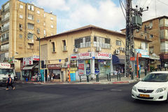 Currency exchange stall in old 2-story building. Rishon LeZion, Israel - August 19, 2015: Currency exchange booth in basement of old two-story building in the Royalty Free Stock Photography