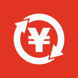 The currency exchange yen icon. Cash and money, wealth, payment symbol. Flat Stock Image
