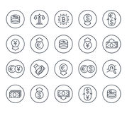 Currency, finance, forex trading line icons. On white, eps 10 file Royalty Free Stock Photo