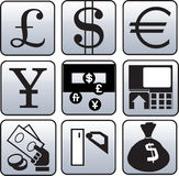 Currency and finance symbol. Nine Currency and finance symbol Stock Photos