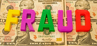 Currency fraud: Dollar. Royalty Free Stock Images