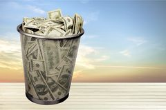 Currency Garbage Stock Images