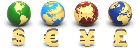 Currency Globe stock illustration