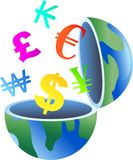 Currency globe Stock Photos