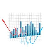 Currency graph Royalty Free Stock Image