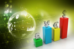 Currency graph Royalty Free Stock Photo