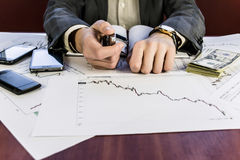 Currency graphs Royalty Free Stock Photos