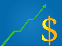 Currency Growth Dollar Stock Photography