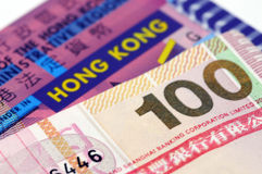 Currency from Hong-Kong Stock Photography