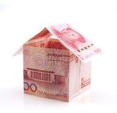 Currency house Royalty Free Stock Images