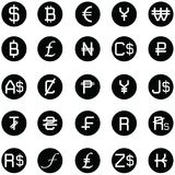 Currency icon set. The currency of icon set Royalty Free Stock Photos