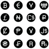 Currency icon set. The currency of icon set Royalty Free Stock Photo