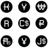 Currency icon set. The currency of icon set Stock Images