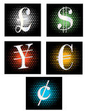 Currency icons Stock Photo