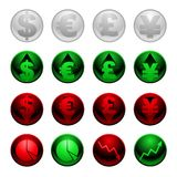 Currency icons Royalty Free Stock Images