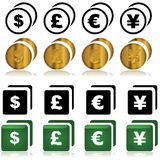 Currency icons Royalty Free Stock Photo