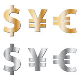 Currency icons Royalty Free Stock Photography