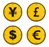 Currency icons. Currency icon, suitable for user interface Royalty Free Stock Image