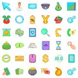 Currency icons set, cartoon style. Currency icons set. Cartoon style of 36 currency vector icons for web isolated on white background Stock Image