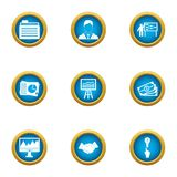 Currency icons set, flat style. Currency icons set. Flat set of 9 currency vector icons for web isolated on white background Stock Photos