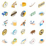 Currency icons set, isometric style. Currency icons set. Isometric set of 25 currency vector icons for web isolated on white background Stock Image
