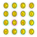 Currency icons set, pop-art style Royalty Free Stock Photography