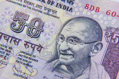 Currency. Indian fifty rupee currency note Royalty Free Stock Images