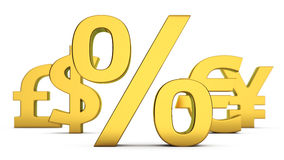 Currency interest Stock Image