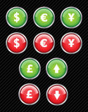 Currency interface icons. Stock Photo