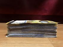 Money Korean Currency. Currency, Korean Currency, Paper Currency, Wood Material, Korea Stock Photography