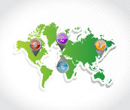 Currency map guide illustration design Royalty Free Stock Photos