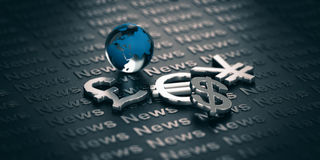 Currency Market News Royalty Free Stock Photography
