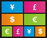 Currency metro style icon. Suitable for user interface Stock Photography