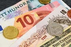 4 Currency Mix Royalty Free Stock Image