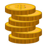 Currency money coins Isolated flat design. Coins icons isolated flat design, Business and money concept design Royalty Free Stock Photography