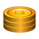 Currency money coins Isolated flat design. Coins icons isolated flat design, Business and money concept design Stock Images