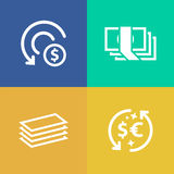 Currency money vector icon Royalty Free Stock Photos