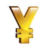 Currency money yen  symbol icon over white. Stock Photos