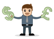 Currency - Office and Business People Cartoon Character Vector Illustration Concept Stock Photos